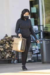 Jordyn Woods in Casual Outfit and New Shorter Haircut 03/18/2021