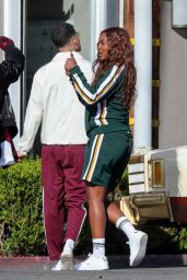 """Justine Skye - Shoots an Ad Campaign for """"Ricky Regal"""" in West Hollywood 03/03/2021"""