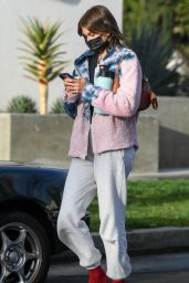Kaia Gerber in a Tie Dye Fleece - Los Angeles 03/10/2021