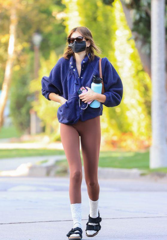 Kaia Gerber in Leggings - Los Angeles 03/23/2021