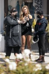 Kara Del Toro Leggy in Mini Dress - Photoshoot in Beverly Hills 03/17/2021