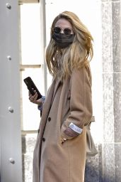 Kate Bock in a Babaton Camel Colored Wool Coat - New York 03/08/2021