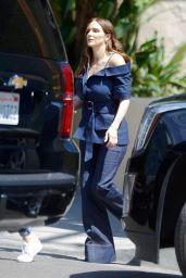 Katharine McPhee Wearing Double Denim - Los Angeles 03/22/2021
