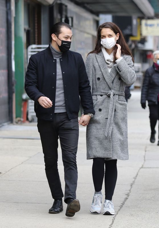 Katie Holmes and Emilio Vitolo Jr. in Manhattan