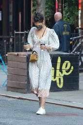 Katie Holmes at Cafe Belle in NYC 03/10/2021