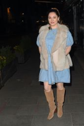 Kelly Brook - Arriving For Her Heart FM Show in London 03/16/2021