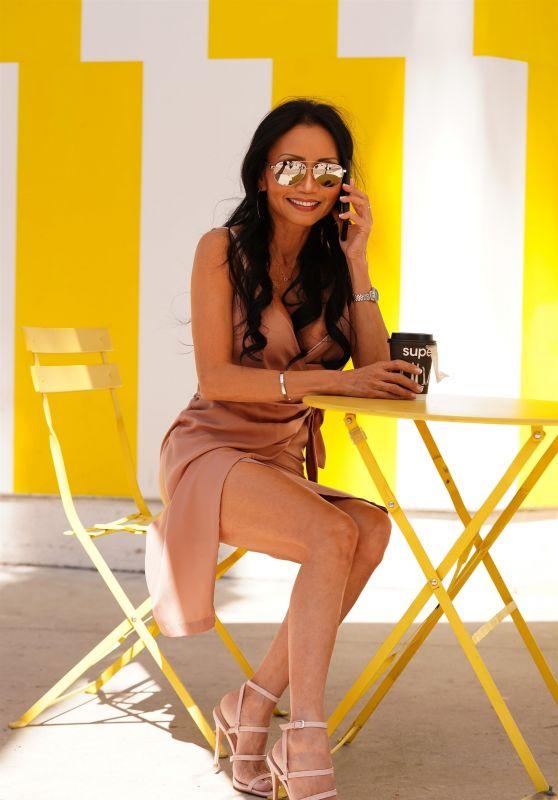 Kelly Ngoc Mac - Enjoying a Coffee at Superba Food + Bread in LA 03/16/2021