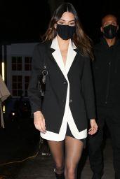 Kendall Jenner in a Tuxedo Dress - New York 03/21/2021