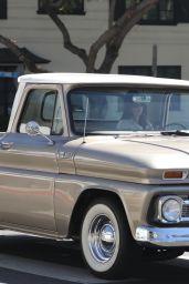 Kendall Jenner in Her Vintage Truck in LA 03/06/2021