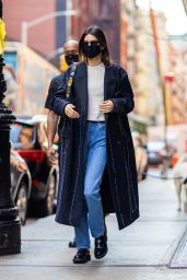 Kendall Jenner Wearing Oversized Coat - NYC 03/22/2021