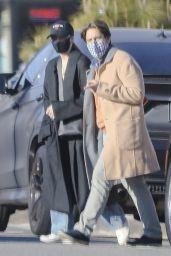 Kourtney Kardashian - Leaving Nobu with Travis Barker 03/19/2021