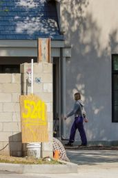 Kristen Bell - Checks in on Her New House Currently Under Construction in Los Feliz 03/13/2021