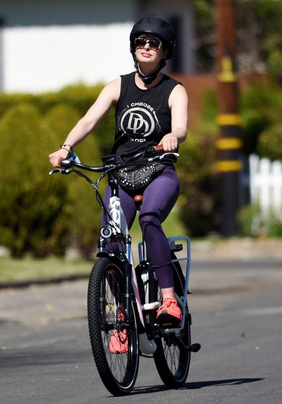 Krysten Ritter Riding an Electric Bicycle 03/05/2021