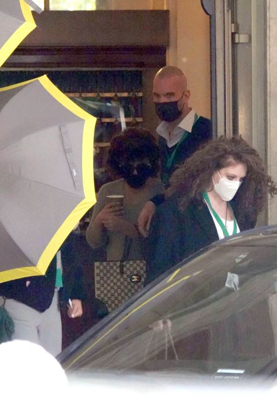 Lady Gaga - Leaves Her Hotel in Rome 03/24/2021