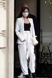 Lady Gaga - Leaves the Hotel in Rome 03/04/2021