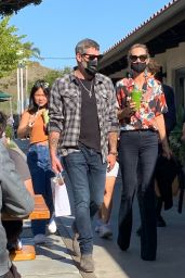Laeticia Hallyday and Jalil Lespert - Out in Malibu 03/21/2021