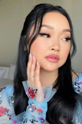 Lana Condor – Dressed for the Golden Globes 2021