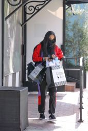 Lauren London - Shops at Couture Kids in West Hollywood 03/09/2021