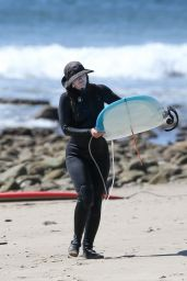 Leighton Meester - Surfing in Malibu 03/24/2021