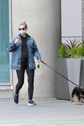Lili Reinhart - Walking Her Dog in Vancouver 03/04/2021