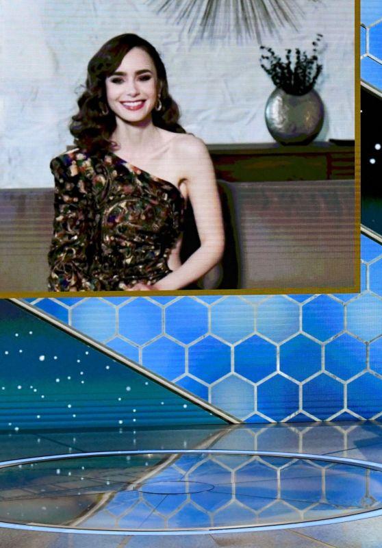 Lily Collins - 78th Annual Golden Globe Awards Virtual Presentation