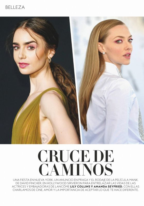Lily Collins and Amanda Seyfried - InStyle Magazine Spain April 2021 Issue