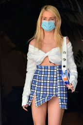 Lottie Moss in a Mini Skirt Out in Los Angeles 03/26/2021