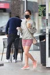 Lucy Hale at Starbucks in Los Angeles 03/07/2021