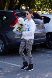 Lucy Hale - Walking Her Dog in Studio City 03/04/2021