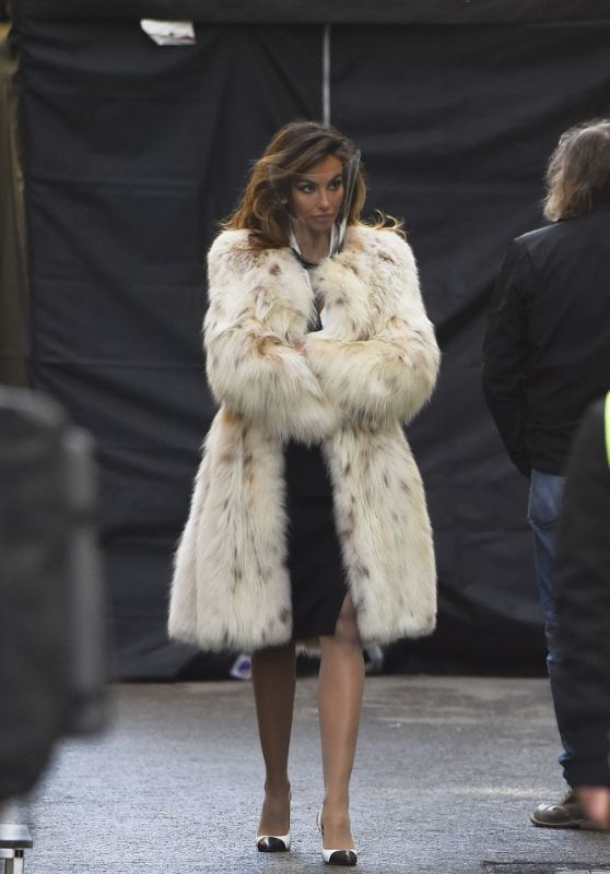"Madalina Ghenea as Sophia Loren in ""House of Gucci"" Movie in Rome 03/22/2021"