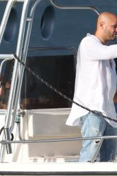 Malu Trevejo in a Blue Bikini on a Boat in Miami 03/12/2021