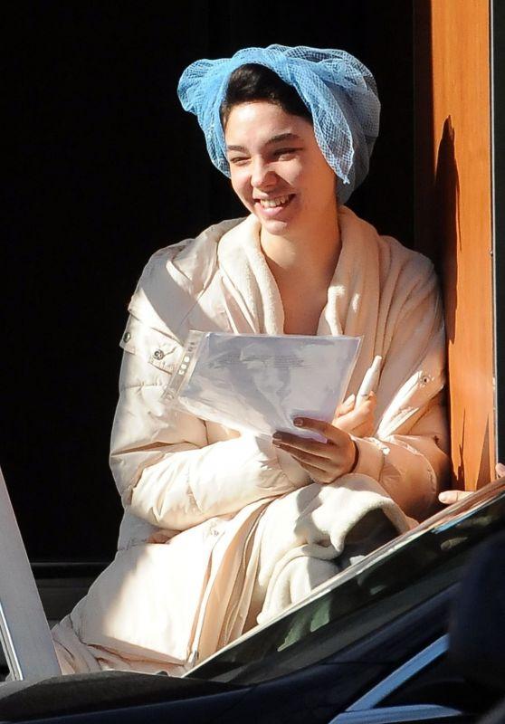 "Matilda De Angelis - ""Robbing Mussolini"" Filming Set in Rome 03/19/2021"
