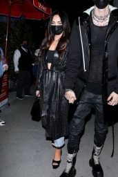 Megan Fox at BOA Steakhouse in West Hollywood 03/05/2021