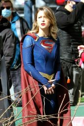 "Melissa Benoist - ""Supergirl"" Set in Vancouver 03/29/2021"