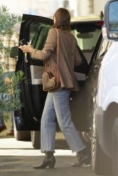 Miranda Kerr in a Brown Blazer and Matching Louis Vuitton Bag - Beverly Hills 03/01/2021
