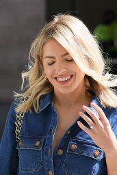 Mollie King in a Denim Jumpsuit at BBC Studios in London 03/27/2021