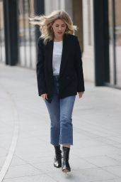 Mollie King in Smart Blazer and Ankle Boots 03/13/2021