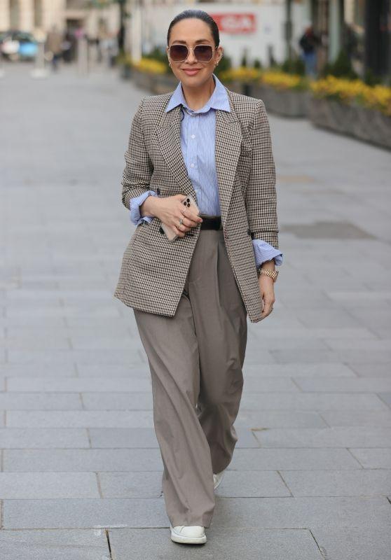 Myleene Klass in Wide Legged Trousers and Tweed Jacket 03/27/2021