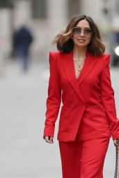 Myleene Klass Wearing Red Trouser Suit 03/20/2021