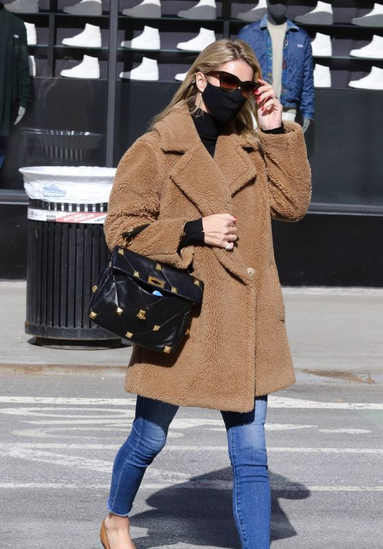 Nicky Hilton in a Brown Teddy Bear Coat - Manhattan