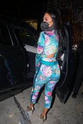 Nicole Scherzinger in a Colourful Co-ord at Craig