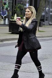 Nicole Sealey at Costa Coffee in Alderley Edge, Cheshire 03/23/2021