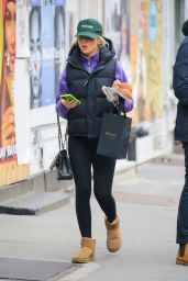 Paige Lorenze Wearing a MadHappy Green Hat and a CHANEL Bag - New York 03/16/2021