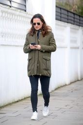 Pippa Middleton in a Military Green Coat - Chelsea 03/12/2021
