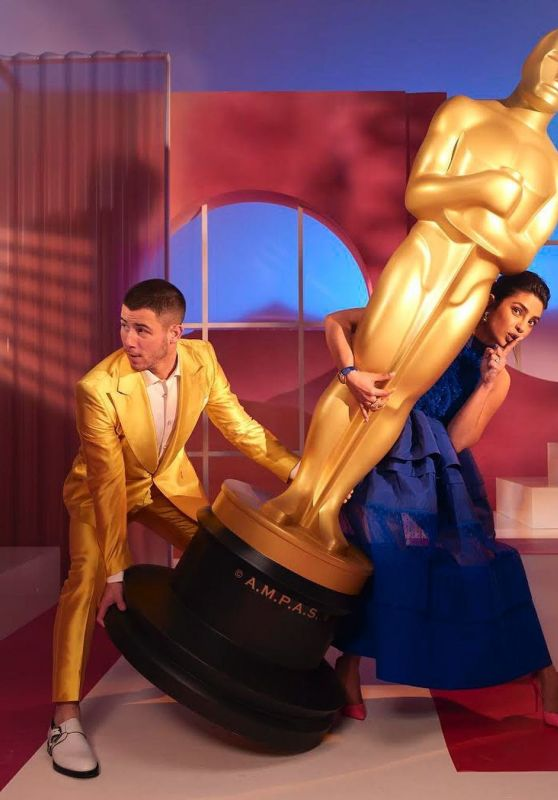 Priyanka Chopra and Nick Jonas - Photoshoot for the 93rd Academy Awards Nominations Announcement March 2021