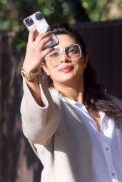 Priyanka Chopra in Comfy Outfit - London 02/28/2021