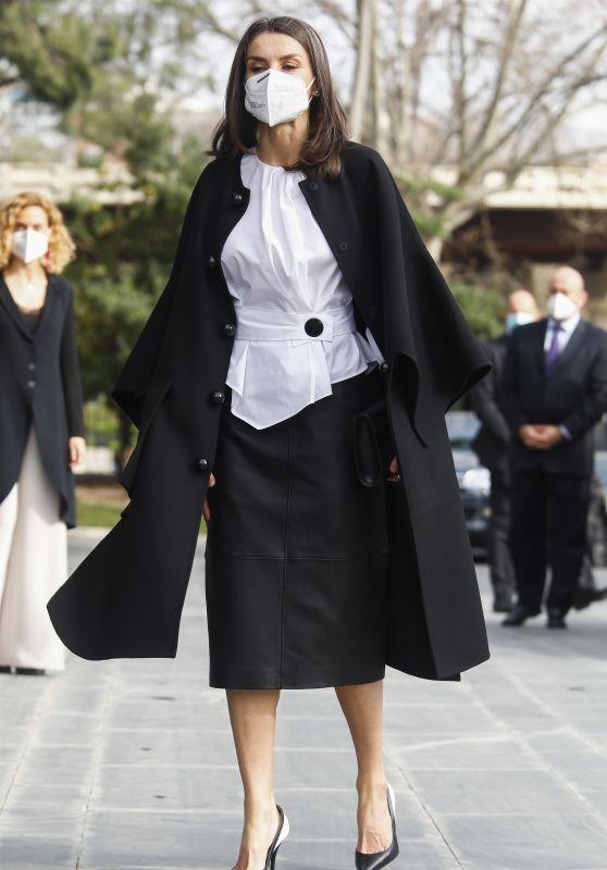 Queen Letizia Looks stylish - Disease Day 2021 in Madrid 03/05/2021