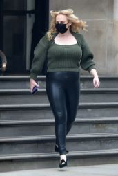 Rebel Wilson in a Pair of Leather Trousers - London 03/24/2021