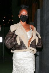 Rihanna Night Out Style - Nobu in West Hollywood 03/23/2021