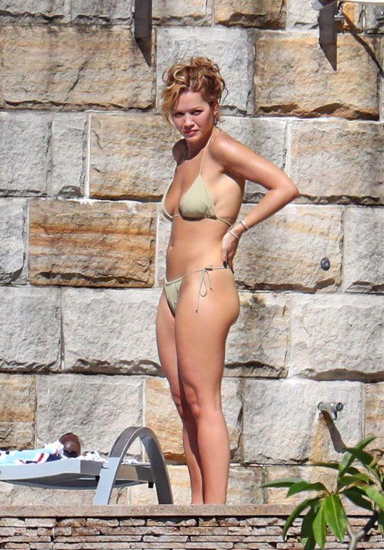 Rita Ora in a Green Bikini in Sydney 03/31/2021
